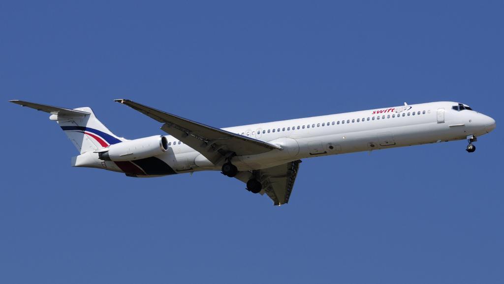 Un avion Swiftair espagnol loué par la compagnie Air Algérie. ©REUTERS/Xavier Larrosa