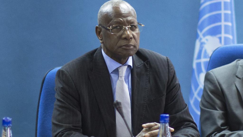 Le Sénégalais Abdoulaye Bathily, médiateur de l'ONU, à Bujumbura le 23 juin 2015. AFP PHOTO / MARCO LONGARI