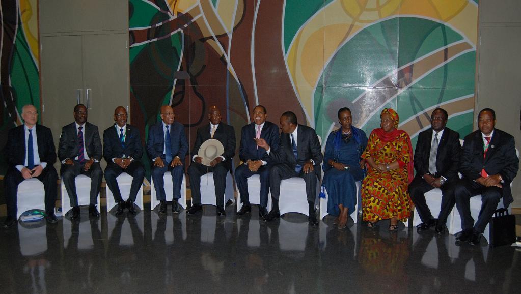 Les chefs d'Etat est-africains réunis à Dar es Salaam, le 31 mai 2015. AFP PHOTO / STRINGER