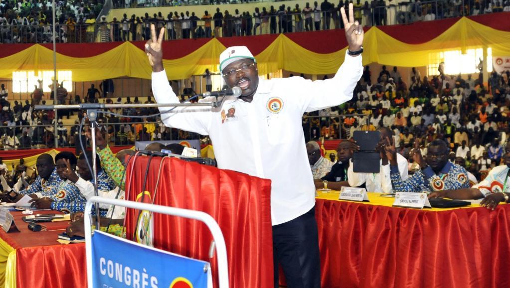 Le président du Congrès pour la démocratie et le progrès Eddie Komboïgo sera le candidat du parti de l'ex-président Blaise Compaoré à la prochaine présidentielle. AFP PHOTO / AHMED OUOBA