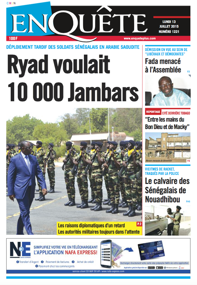 Envoi des soldats sénégalais en Arabie Saoudite : pourquoi le déploiement tarde t-il?