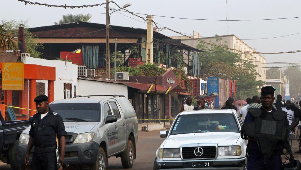 A Bamako, le restaurant La Terrasse a été la cible d'un attentat le 7 mars dernier. AFP PHOTO / SEBASTIEN RIEUSSEC