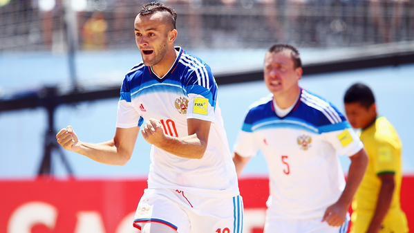 Mondial beach soccer : la Russie sort le Brésil en quarts