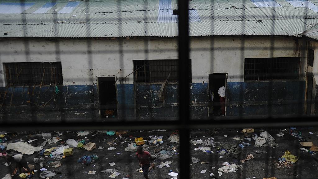 Vue de la prison de Goma, RDC. AFP PHOTO/Tony KARUMBA