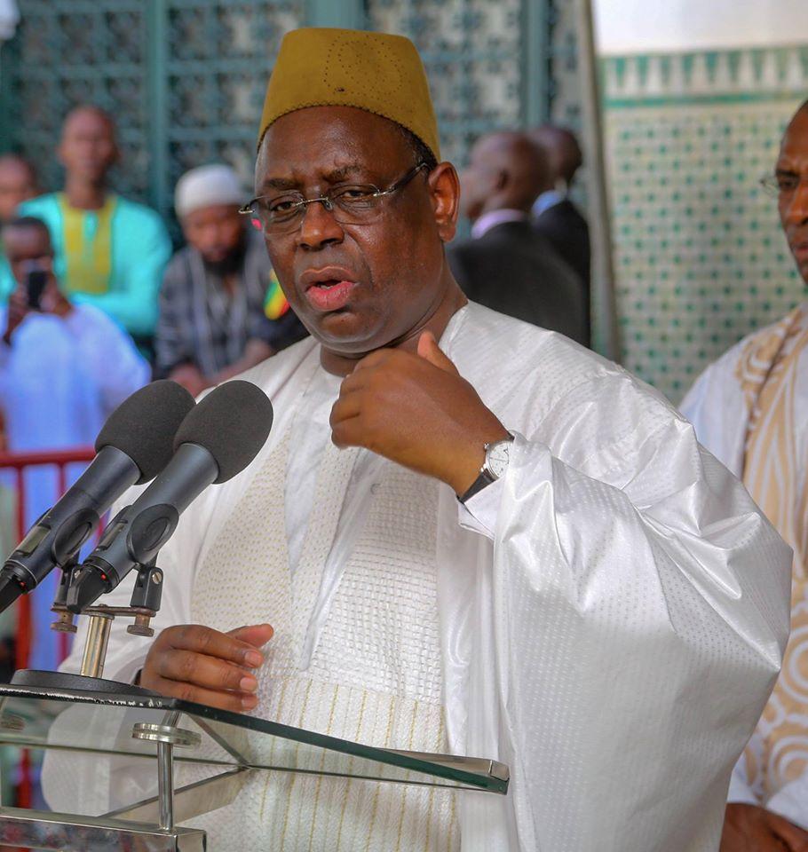 """Korité 2015: le président Macky Sall appelle ses compatriotes à """"plus de vigilance"""""""