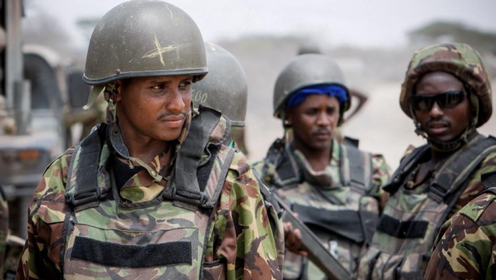 Des soldats du contingent kényan de l'Amisom en Somalie. Photo AFP / AU-UN IST PHOTO