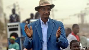 Cellou Dalein Diallo candidat de l'Union des Forces Démocratiques de Guinée pour la présidentielle d'octobre.