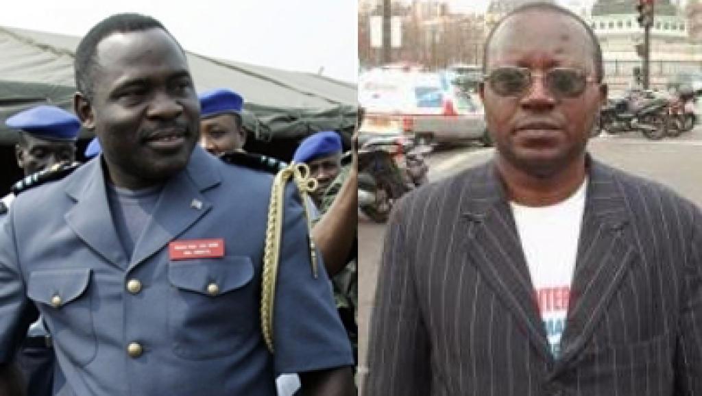 Les partices civiles estiment que le général John Numbi (G) est le commanditaire du meurtre de Floribert Chebeya (D). AFP/ Montage