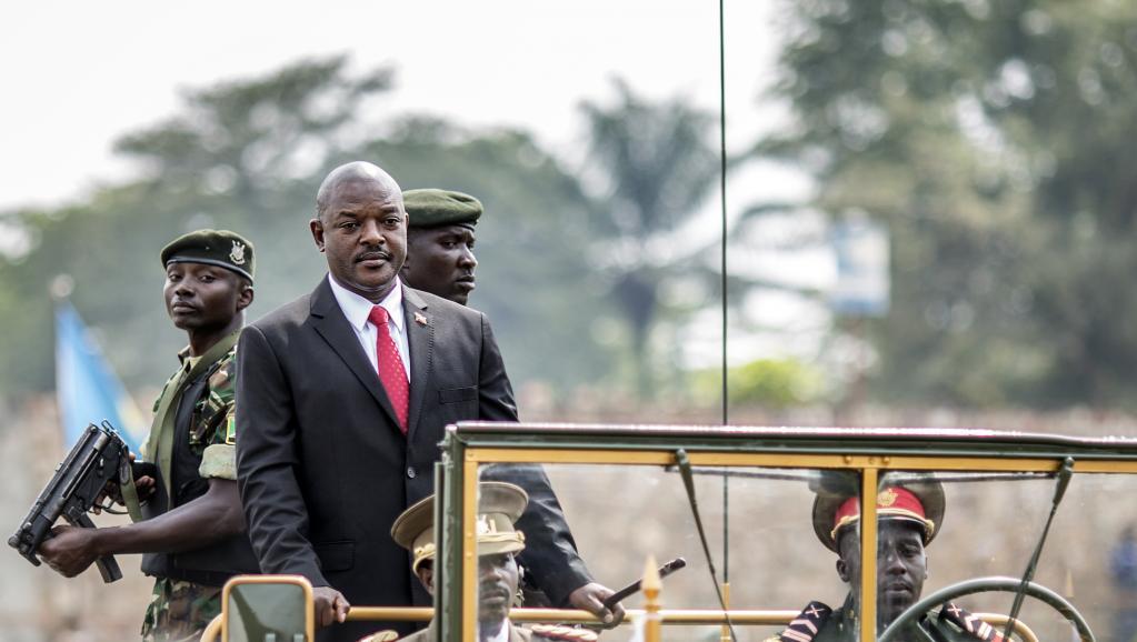 Le président Pierre Nkurunziza lors des célébrations du 53e anniversaire de l'indépendance du Burundi, à Bujumbura le 1er juillet. AFP PHOTO / MARCO LONGARI