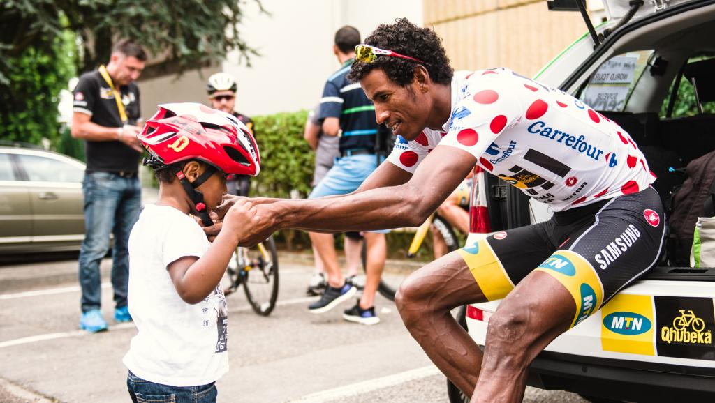 Les Erythréens du Tour de France accueillis en héros à Asmara