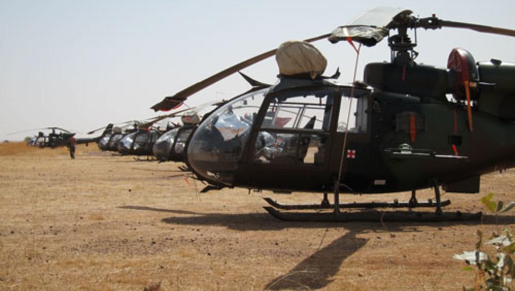 L'opération de libération a été déclenchée au petit matin par les autorités maliennes. Ici, des hélicoptères Gazelle de l'armée malienne à Sévaré en 2013.