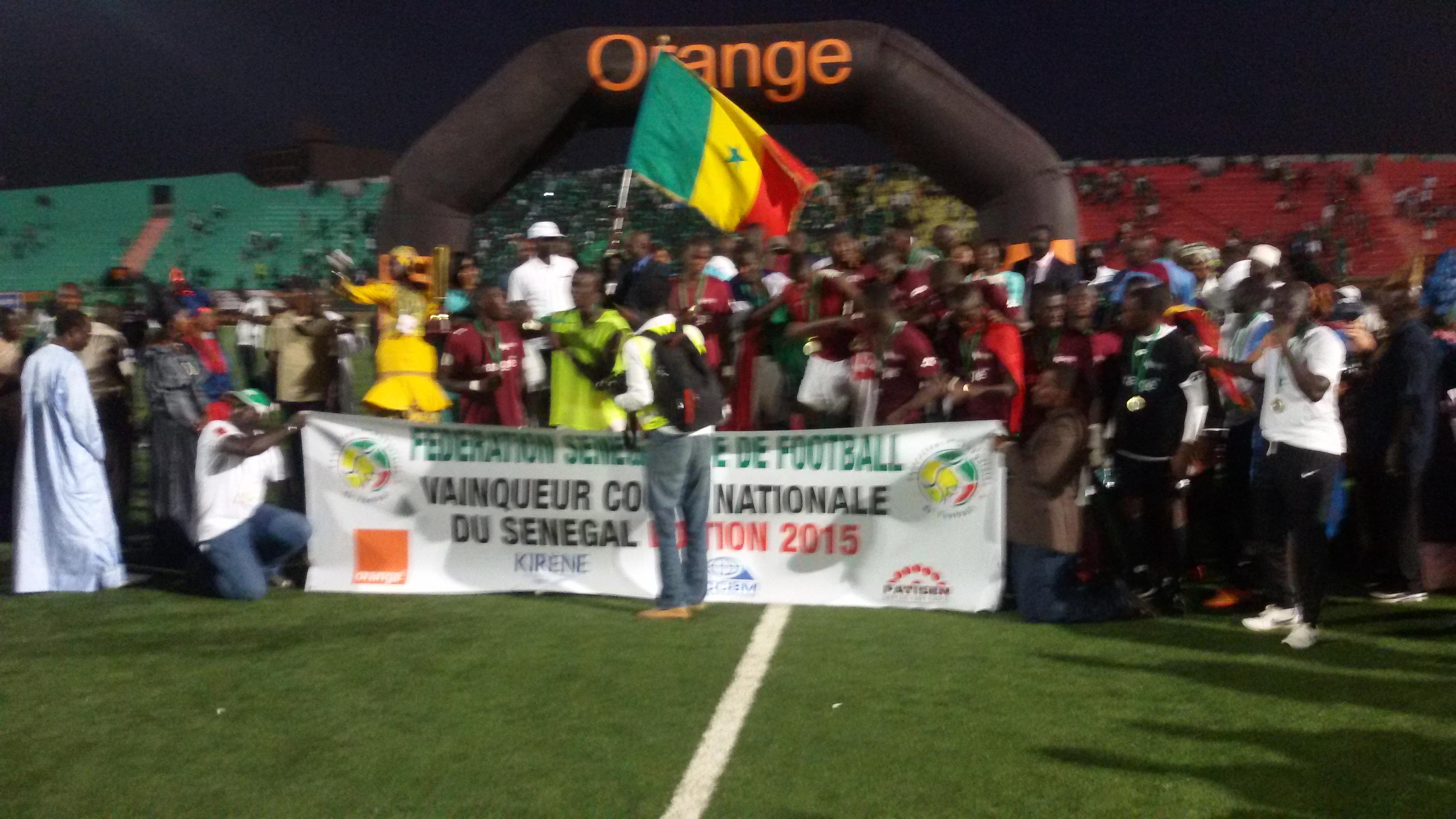 Football: Génération Foot remporte la Coupe du Sénégal devant le Casa Sports