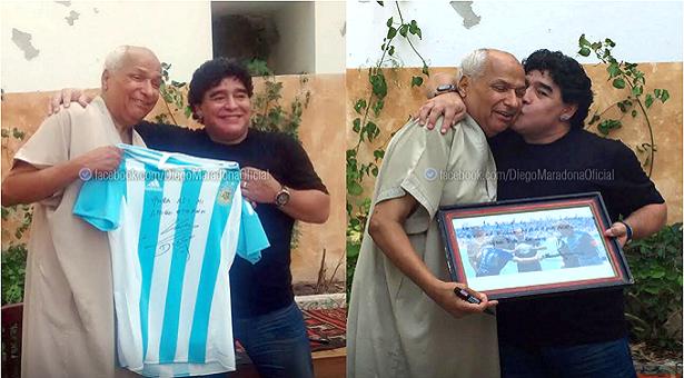 « La main de Dieu » : Maradona et l'arbitre se rencontrent 29 ans après.
