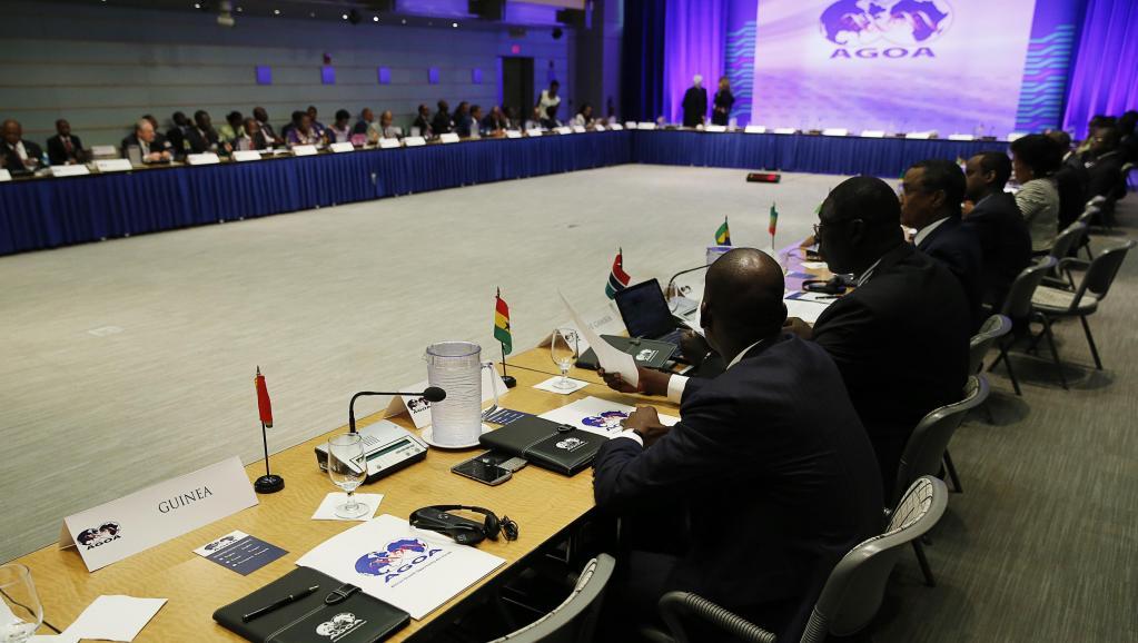 Session d'ouverture du forum sur l'AGOA, l'accord de libre-échange entre les Etats-Unis et l'Afrique, à Washington, le lundi 4 août 2014. REUTERS/Gary Camero