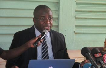 """Le porte-parole de la Coordination des Organisations de la société civile et du Mvt """"Le Balai citoyen"""" au Burkina, Me Hervé Kam"""