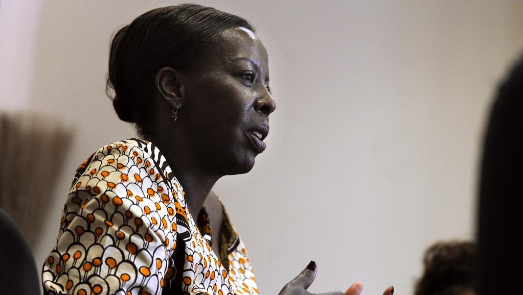 La chef de la diplomatie rwandaise Louise Mushikiwabo assure que son gouvernement a utilisé plusieurs ressors auprès des autorités burundaises pour protester contre l'arrestation de ses ressortissants. AFP PHOTO/ TONY KARUMBA