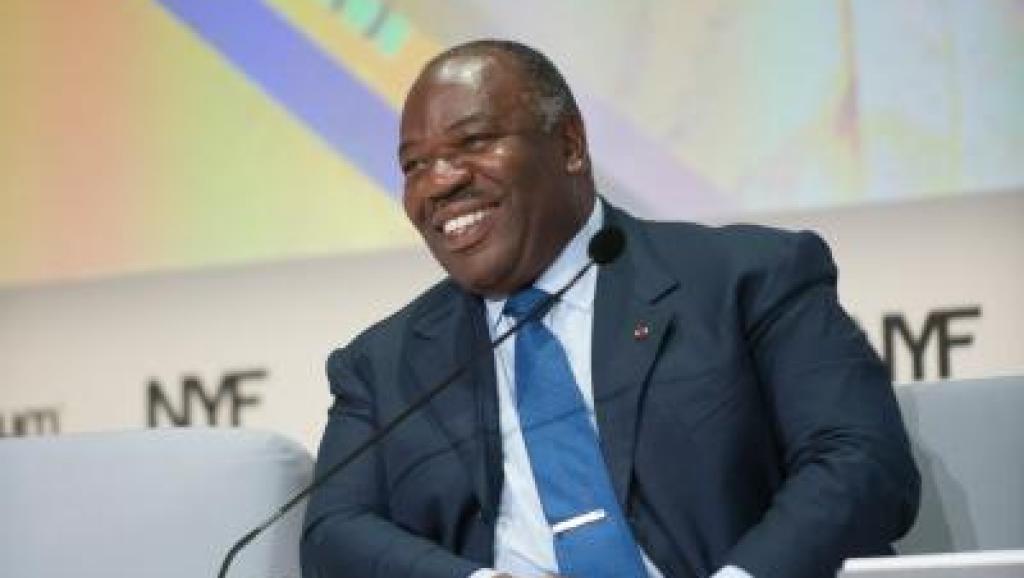 Le président gabonais Ali Bongo Odimba, lors de l'ouverture du New York Forum Africa, à Libreville, le 28 août 2015. http://www.ny-forum-africa.com