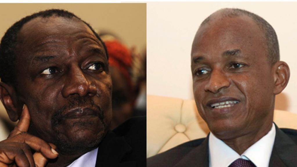 Alpha Condé (g.) et Ceillou Dalein Diallo (d.). AFP/Reuters