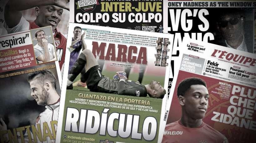 Le Real Madrid détruit par la presse espagnole, van Gaal taillé en pièces