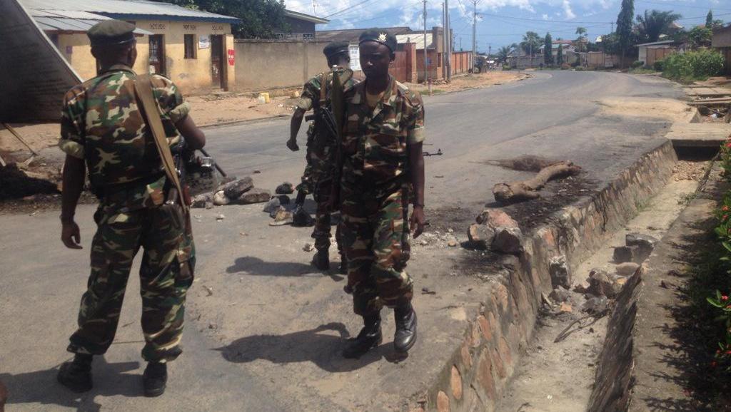 Cela fait deux jours que tirs et explosions sont entendus dans le quartier de Musaga, qui, comme d'autres quartiers de la capitale, a fait l'objet d'un blocus dans la journée du 2 septembre. Sonia Rolley/RFI