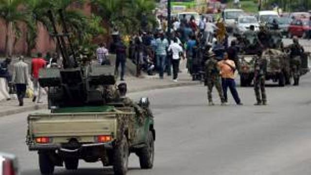 Militaires ivoiriens à Bouaké dans le centre du pays