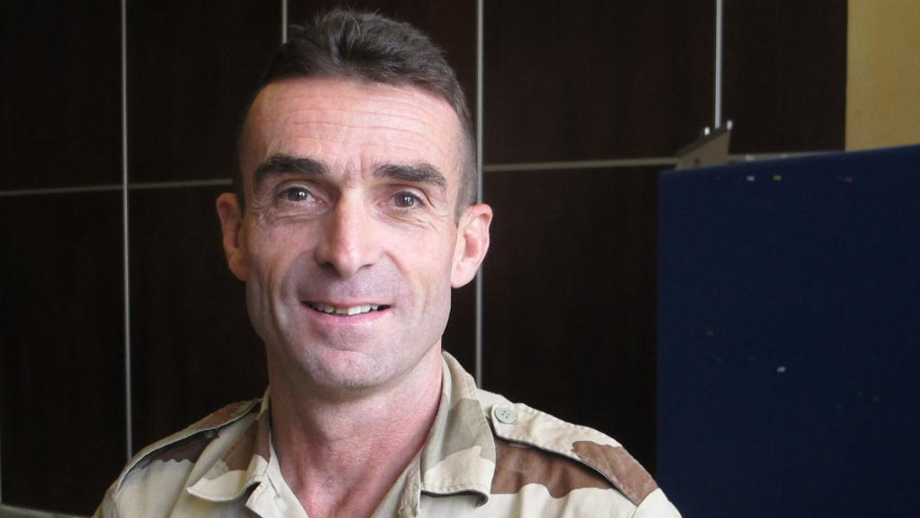 Le Général Hervé Gomart, chef d'Etat major de la force de la Mission des Nations unies au Mali. RFI/David Baché