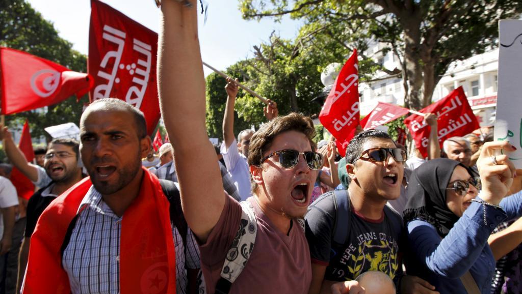 Manifestation à Tunis contre le projet de loi d'amnistie économique
