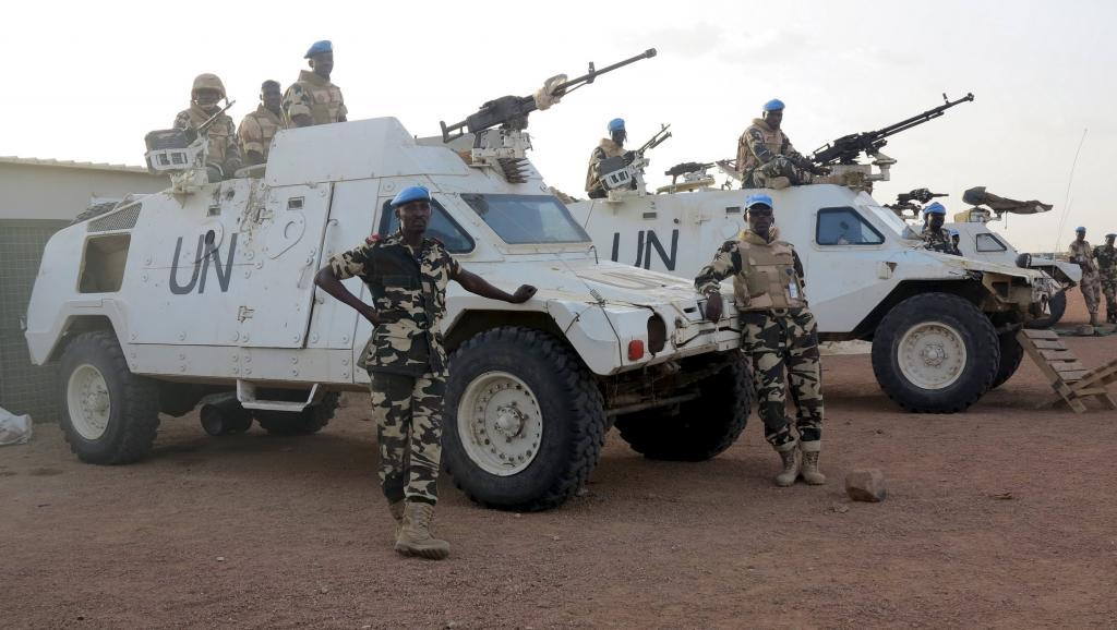 Les casques bleus de la Minusma, la mission des Nations unies au Mali, ici, à Kidal, le 22 juillet 2015. REUTERS/Adama Diarra