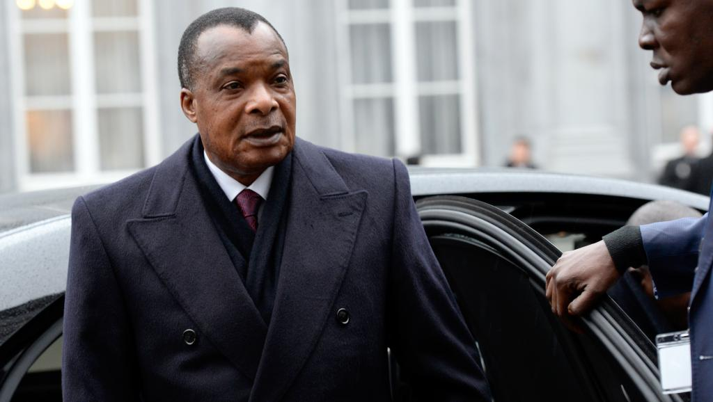 Denis-Sassou Nguesso, président du Congo-Brazzaville, le 3 matrs 2015 lors d'une visite à Bruxelles. AFP PHOTO / THIERRY CHARLIER