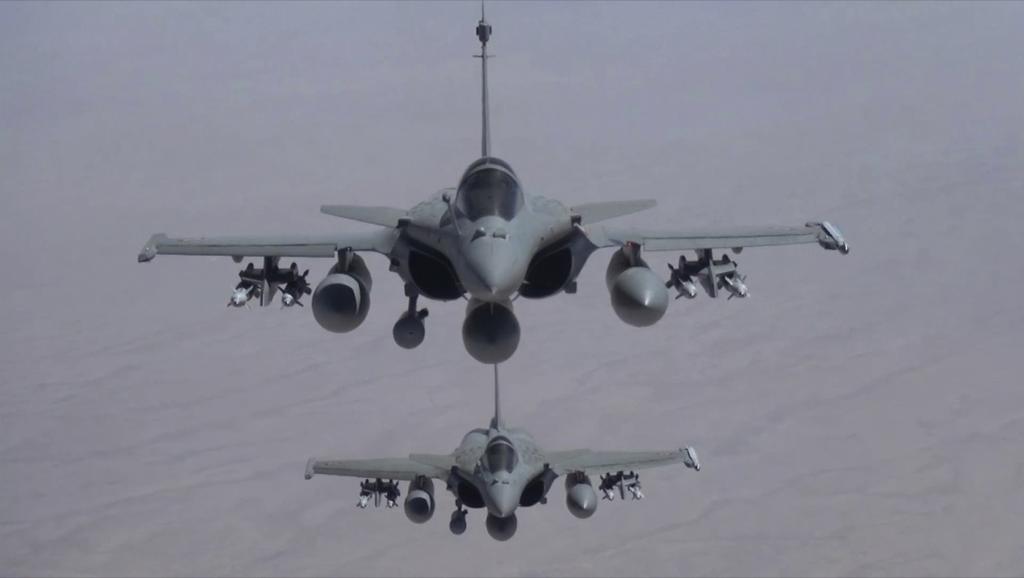 Des «Rafale» au-dessus du Moyen-Orient. REUTERS/ECPAD/Armee de l'Air/J. Brunet/Handout via Reuters