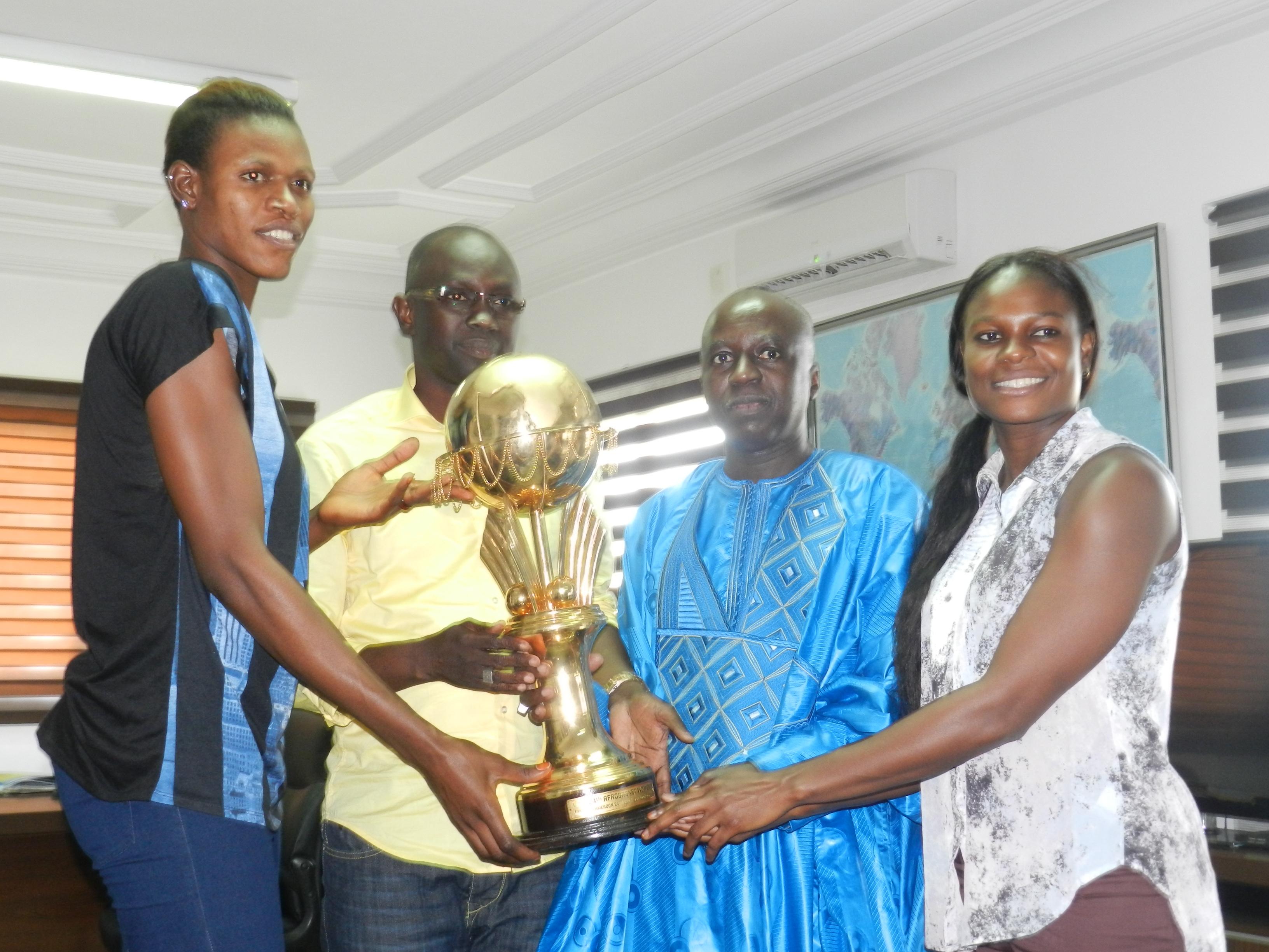 De gauche à droite: Ramata Daou, Abass Ndoye, Papa Maël Diop et Mame Diodio Diouf