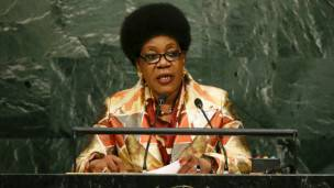 Catherine Samba-Panza, présidente de transition
