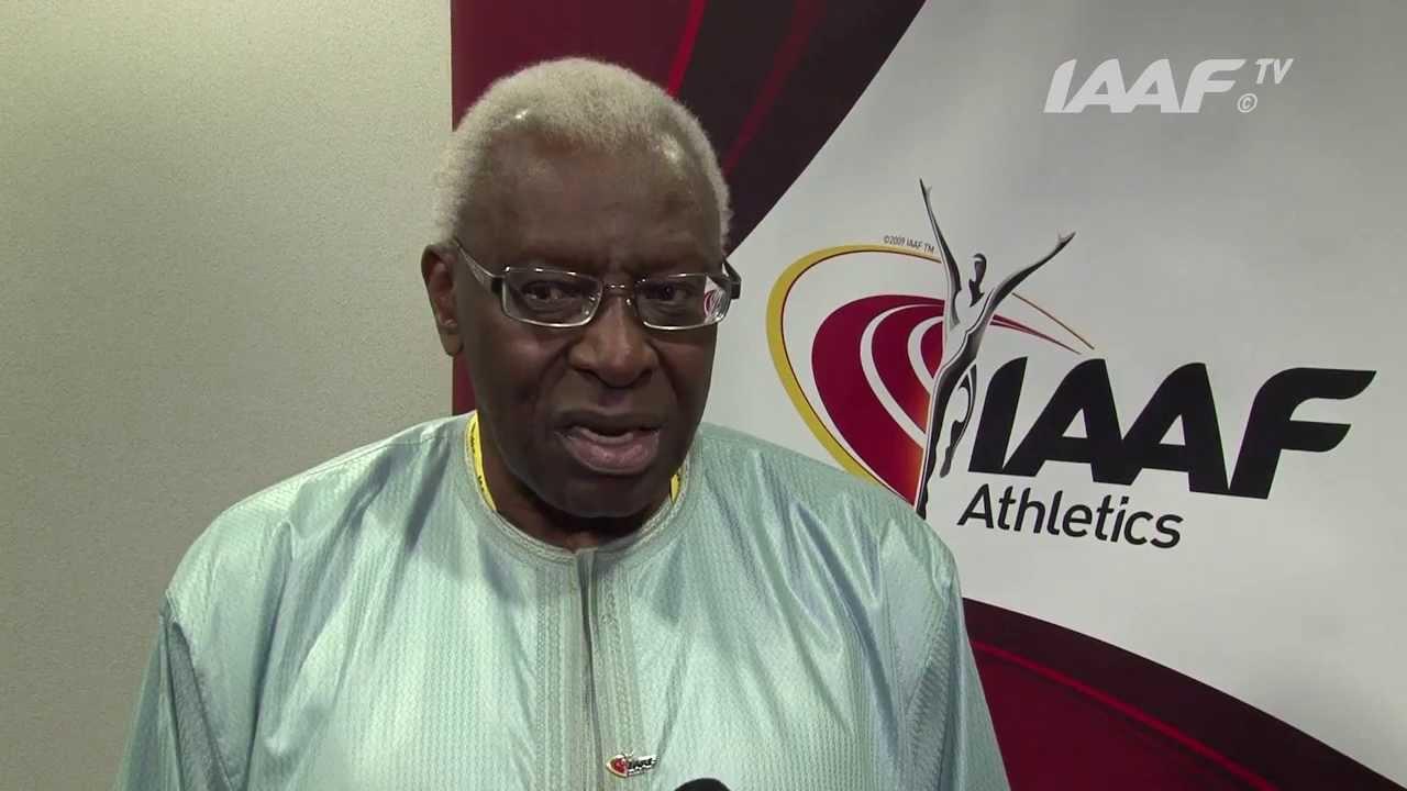 L'ancien président de l'IAAF, Lamine Diack