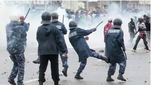 Une violente manifestation au Togo