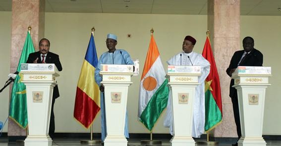Sahel : à N'Djamena, les chefs d'État du G5 annoncent la création d'une force conjointe