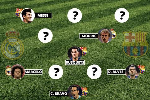 Real-Barça, notre onze combiné