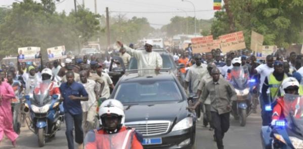 Touba: Macky accueilli avec les honneurs dans la capitale du mouridisme