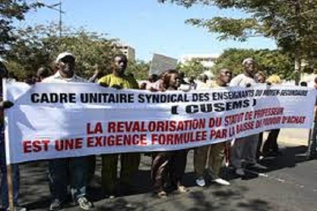 """""""La relative stabilité du système risque de voler en éclats"""", CUSEMS"""