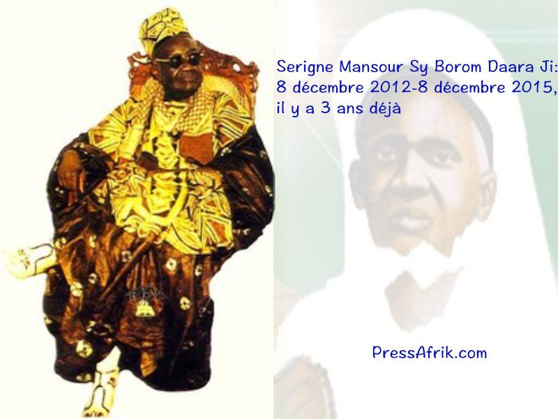 Serigne Mansour Sy Borom Daara Ji: 8 décembre 2012-8 décembre 2015, il y a 3 ans déjà
