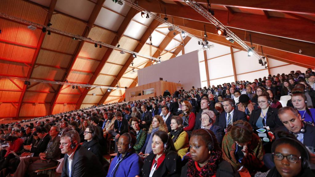 En conférence plénière, les représentants des pays ont validé les propositions, REUTERS/Stephane Mahe