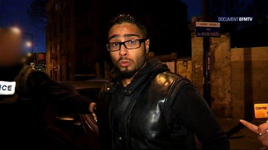 Capture d'écran de la chaîne BFM-TV montrant Jawad Bendaoud, à Saint-Denis le 18 novembre