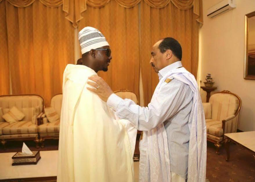 Présentation de condoléances du Khalif général des Mourides au chef d'Etat Mauritanien