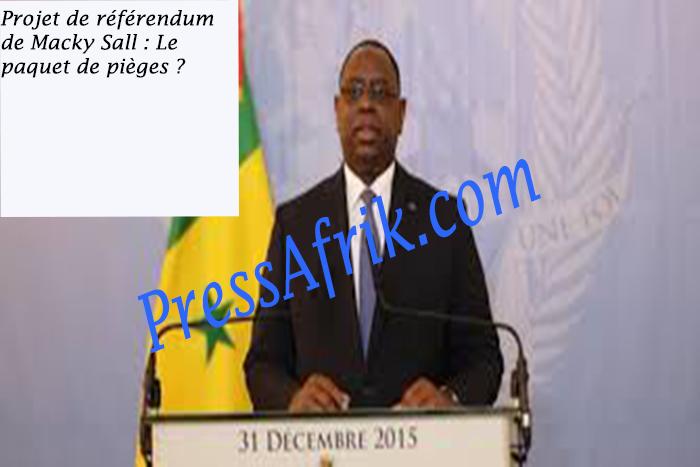 Projet de référendum de Macky Sall : Le paquet de pièges ?