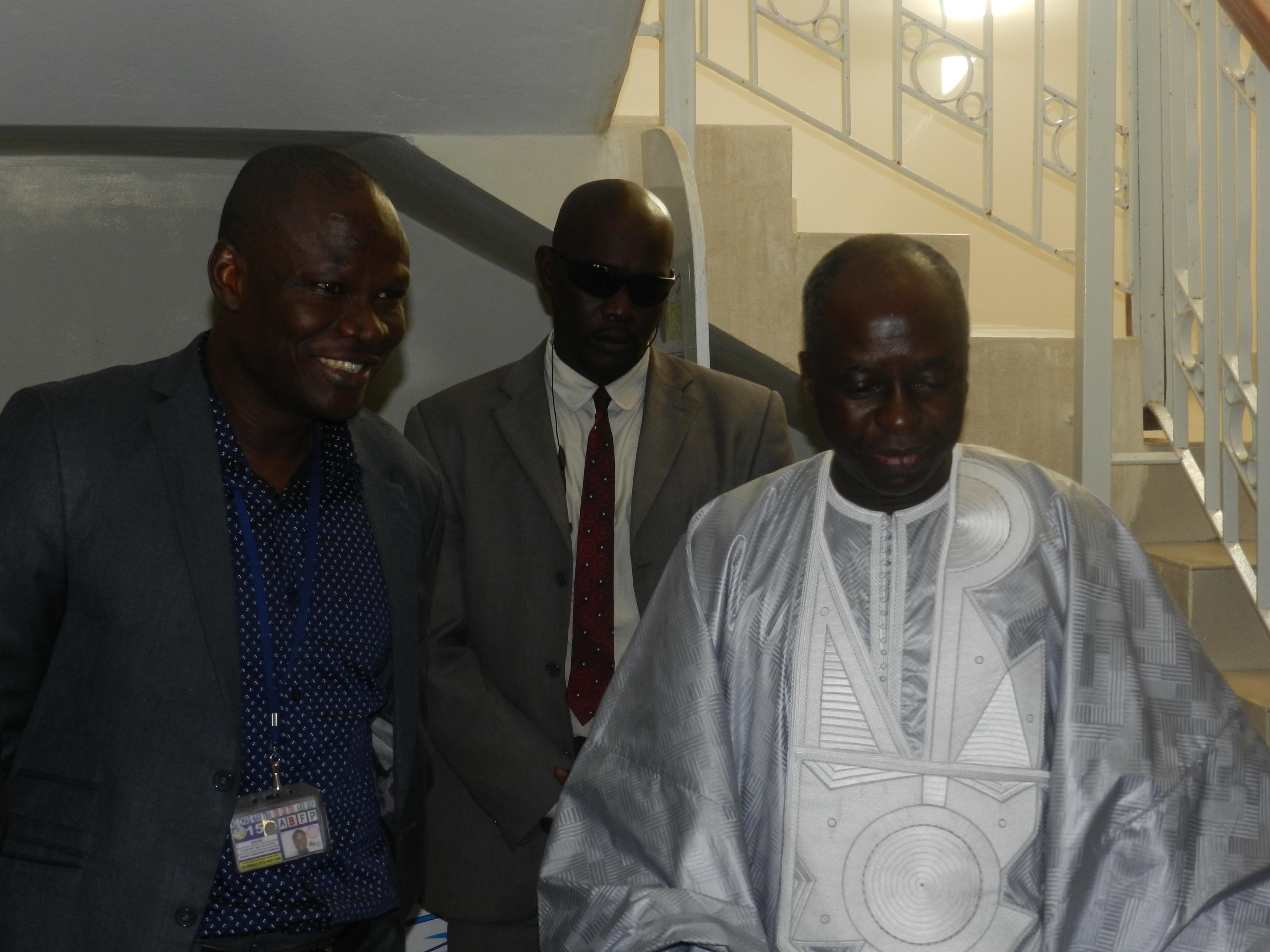 Moustapha Gueye Mara et le DG des ADS