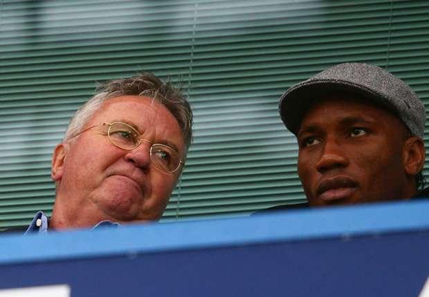 Chelsea, Hiddink réfute l'arrivée de Drogba dans le staff