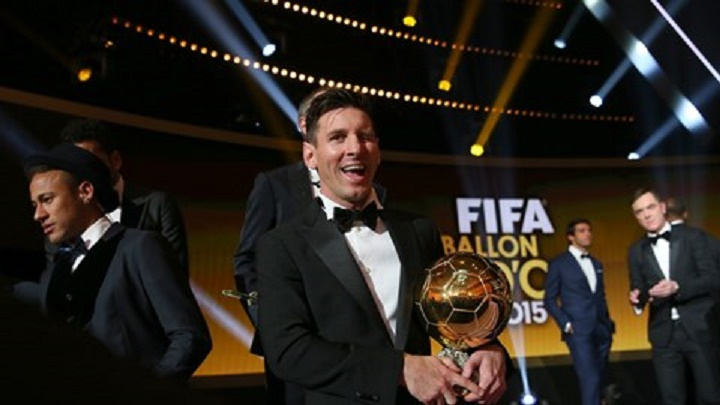 Messi ballon d'or 2015 devant Cristiano Ronaldo et Neymar