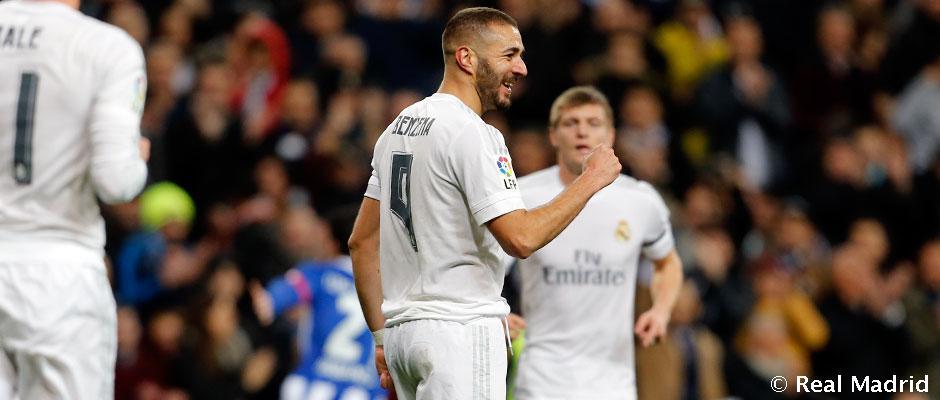 Benzema a dépassé les 100 buts au Bernabéu