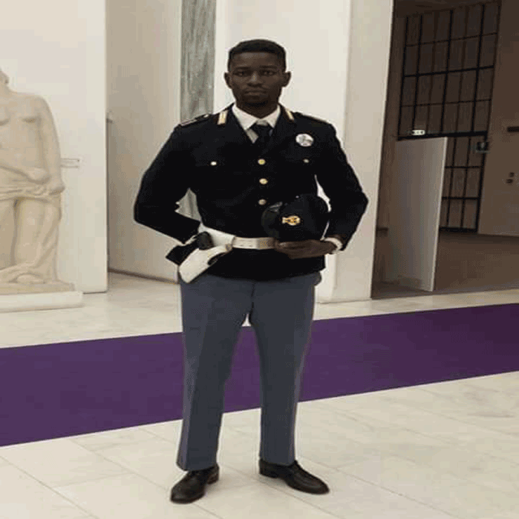 El Hadji Guèye, le policier sénégalais en Italie