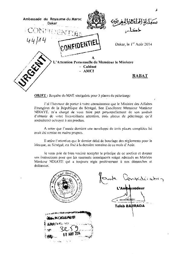 «Monsieur le Président, lavez l'honneur perdu du Sénégal devant la Royaume du Maroc », (Senegaal bi ñu bëgg)