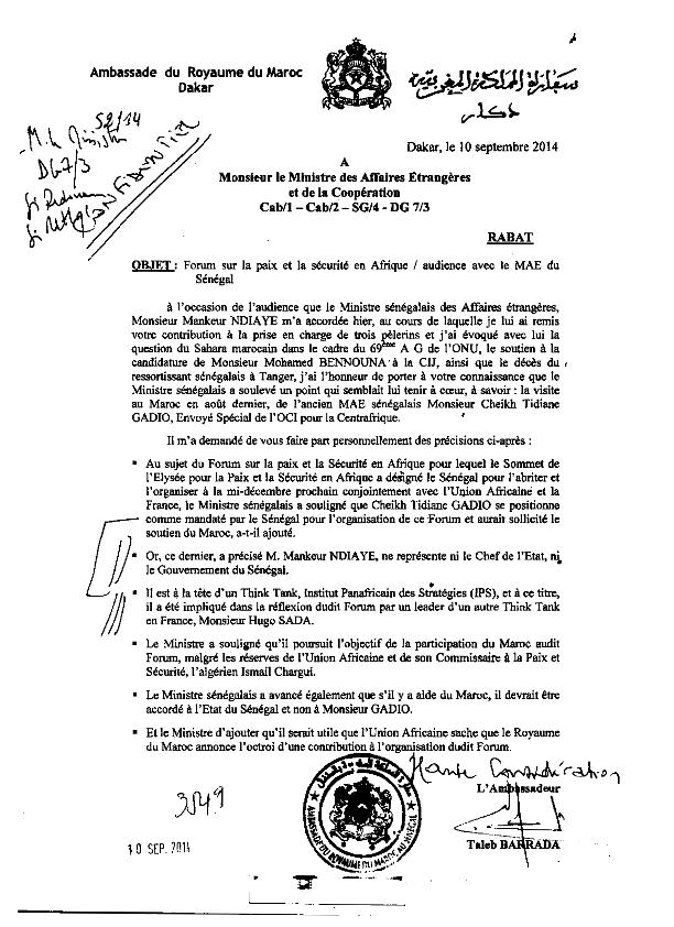 Après le démenti de l'Ambassade: le site marocain revient à la charge et enfonce Mankeur Ndiaye